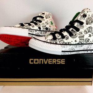 Converse CT Christmas sneakers junior sz 11 NIB